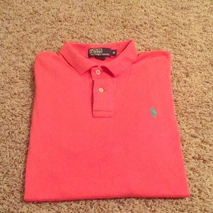 Men's salmon Polo Ralph Lauren shirt